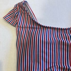 Old Navy Swim - OLD NAVY swim top red white and blue stripes